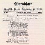 Trierer Amtsblatt vom 19.08.1847